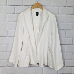 EILEEN FISHER Linen Basket Open Front Jacket A5-14